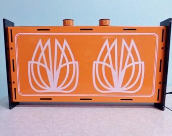 Mid Century Orange Portable Range for Tiny House - Presto Company - Retro Electric Camping Stove - 1970s Glamping