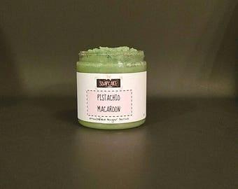 Pistachio Macaroon Emulsified Sugar Scrub / Handmade Body Scrub Polish