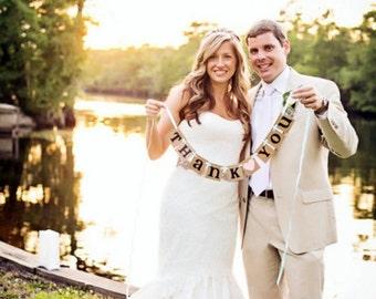 mini Thank You Banner/ Wedding Garland/ Banner/ Thank You Card/ Photo Prop/ Wedding Thank You/ / Wedding Decoration