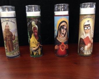 Alterna-saints pillar candles