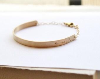 Bar Bracelet, Silver or Gold Bar Bracelet, Personalized Bracelet, Hand Stamped Jewelry, Custom Name ID bracelet, Gift for Her