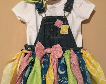 24 month baby girl overall shorts scrap dress