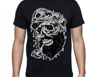 Old School Tattoo Skull Sailor  T-shirt