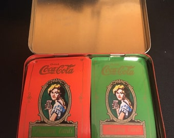 1980 Coca Cola Playing Cards with Collector's Tin