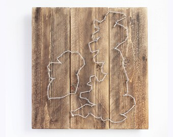 String Art - UK and Ireland Outline