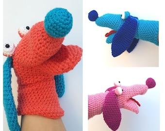 Crochet Dog Hand Puppet, dog puppet, crochet puppet, children's hand puppet