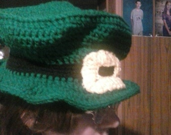 Irish hat, crochet green hat, crochet Irish hat