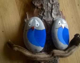 wall hanging owls blue pebbles on serial number & certificate