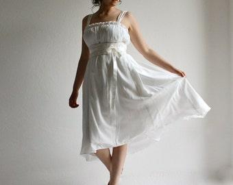 Hi low Wedding dress, Boho wedding dress, Short wedding dress, Hippie wedding dress, Empire wedding dress, Reception dress, rehearsal dress