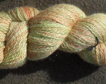 "Handspun yarn - ""Nasturtium"", 100 g, 290 m 2 ply - BFL/nylon"