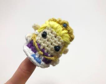 Crocheted Zelda Finger Puppet from The Legend of Zelda