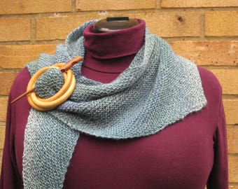 Hand knitted shawlette, knitted shawl
