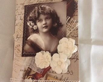 Vintage Junk Journal, Gratitude, Travel, Scrapbook, Writing, Flowers