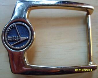 Pratt & Whitney Belt Buckle,  Gold Belt Buckle, Buckle, Belt Buckle,