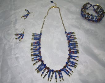 Multi-color Bead Necklace Set