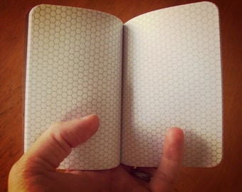 Civilization V Hex Paper Notebook, Pocket Journal, Gamers, Programmers, Personalized Journal, Kraft Paper Notebook, Hexagon Grid Paper