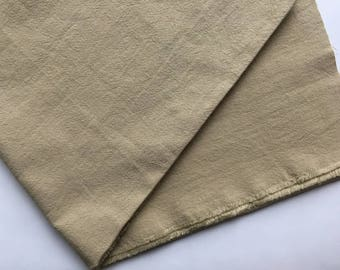 japanese linen blended cotton fabric. washer finish fabric. medium weight fabric. 105cm (41in) wide. sold by 50cm (19in) long. beige