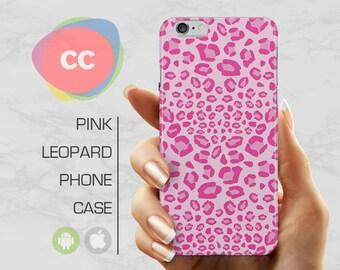 Pink Leopard Print Phone Case / iPhone 7 Case / iPhone 6 Plus Case / 6, 5, 5S, SE, Plus Case / Samsung Galaxy S8, S7, S6 Gift Case - PC-165