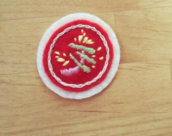 Mid-Century Garnish badge (patch, pin, magnet, brooch)