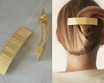 Barrette, Hair barrette women, Gold Barrett, Hair accessories, French hair barrette, Hair Jewelry, Hair clip, Hair care