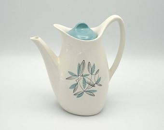 Vintage teapot, 1960's china teapot, tea pot, retro teapot, vintage chinaware, blue and white teapot, teapot, chinaware, gift
