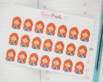 Cheat Day/Eating Pizza Leona Planner Stickers | Stationery for Erin Condren, Filofax, Kikki K and scrapbooking