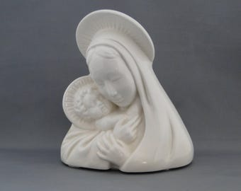 Vintage Madonna and Child Planter Head vase