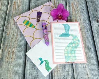 Stationery Set - mermaid tail - letter writing set