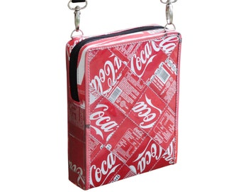 Small zip crossbody using Coca Cola can - FREE SHIPPING - sustainable gift for women, vegan bag, upcycling by milo, naveh milo
