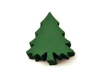 Die Cut Paper Christmas Trees  in  Evergreen  Quantity 50