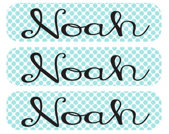 48 Dishwasher safe and Waterproof Kid's Labels - Great for daycare, school, baby bottles, sippy cups and more!