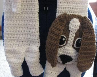 Basset Hound - Crochet Scarf Pattern - Dog Lover Gift - Basset Hound Pattern - Animal Pattern - Men's Scarf - Women's Scarves - Dogs