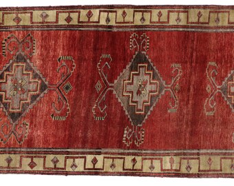 Vintage Turkish Oushak Runner with Modern Tribal Style, Oushak Gallery Rug - 5'00 X 11'11