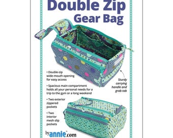 "Pattern ""Double Zip Gear Bag"" byAnnie (PBA257) Paper Pattern"