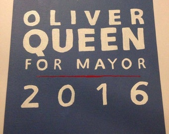 Oliver Queen for Mayor Canvas Painting