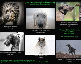 Photo Note Cards of Irish Wolfhounds from Around the World (inside is blank)