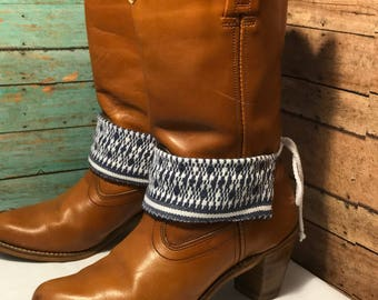 Boot jewelry! Reversable! Boot jewelry. cotton fabric