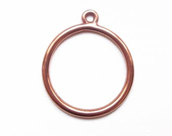 Copper charm ring 35 mm