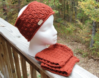Crochet boot cuffs headband set, Crochet  earwarmer  Headband for women, birthday gift, gift mom gift, birthday gift for sister, gift women