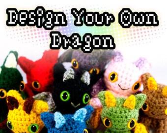 Design Your Own Dragon Plush Toy Amigurumi Crochet