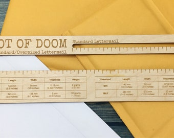 Slot of Doom! Canada Post lettermail template, mail size slot