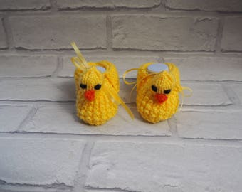 duck booties/duckling shoes/baby booties/duckling slippers/baby shower gift/christening booties/animal booties/novelty booties.