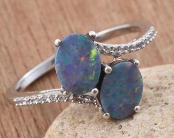 Australian Boulder Opal Ring. - Size 5.