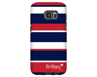 Galaxy S8 case,red, white and blue stripes Galaxy S8 Plus case, S7 case, personalized Galaxy Note 8 case, Galaxy S6 case, 3D Galaxy cases