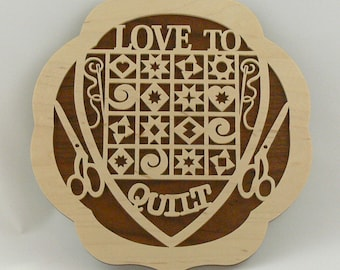 Love to Quilt Plaque
