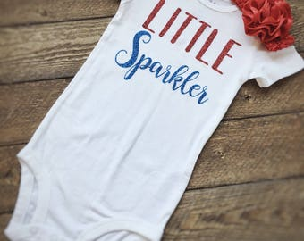 4th of July onesie, baby onesie, red white and blue