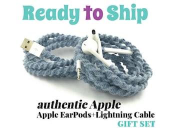 Geschenk-Set für sie für das iPhone 6 Ladekabel & gewickelt Gewirr frei EarPods Kopfhörer für iPhone iPod in SKYE