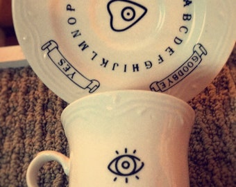 Fortune Teller Ouija Tea Cut and Plate