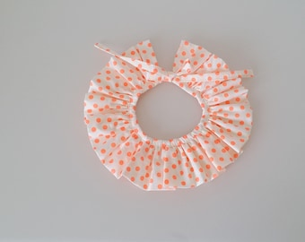 Pierrot polka dots with pretty bow (removable)