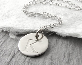 White Gold Initial Necklace 14k White Gold Necklace Tiny White Gold Necklace Mother Personalized Necklace Mother's Day Gift Holiday Gift